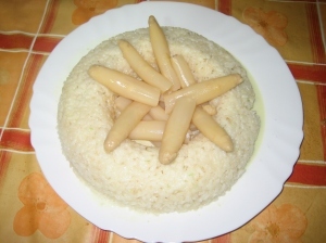 Corona de arroz con espárragos de Thermomiss